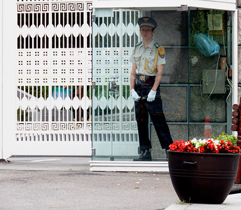 Guard in front of the Presidential Palace.