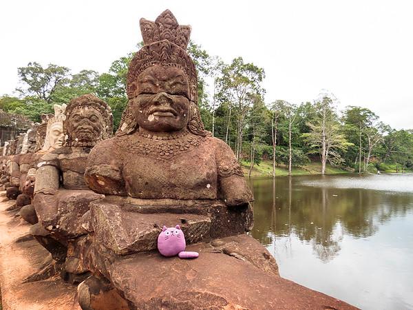 Violet in Ankor Wat