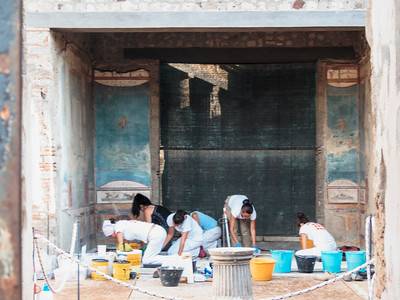 Restoration is still ongoing in Pompeii