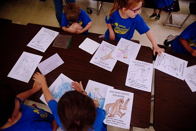 Children participate in various Vacation Bible School activities at St. Patrick Catholic Church June 15.