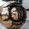 "Arnaldo Pomodoro's ""Sphere Within Sphere"" sculpture-outside of Berkeley Library"