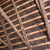 What the thatched roof looked like from inside the hut