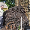 That's a large pile of peat!