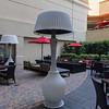 Courtyard Marriot exterior - heat lamps!