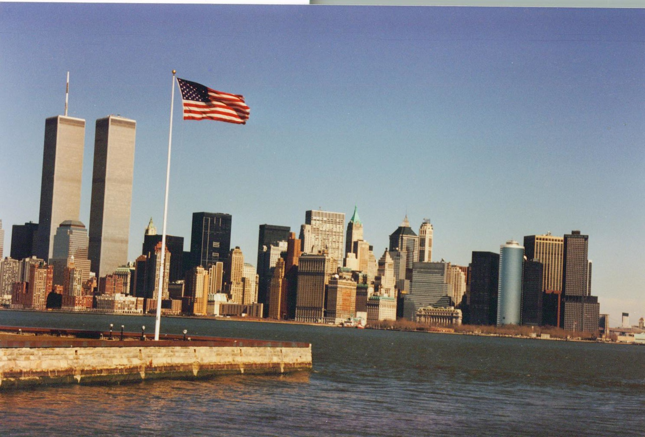 Twin Towers and Manhatten from Ellis Island.