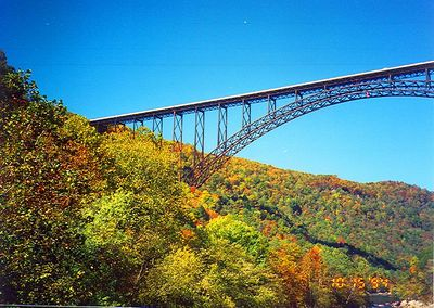 Bridge Day, New River, Fayetteville, West Virginia, October 1994
