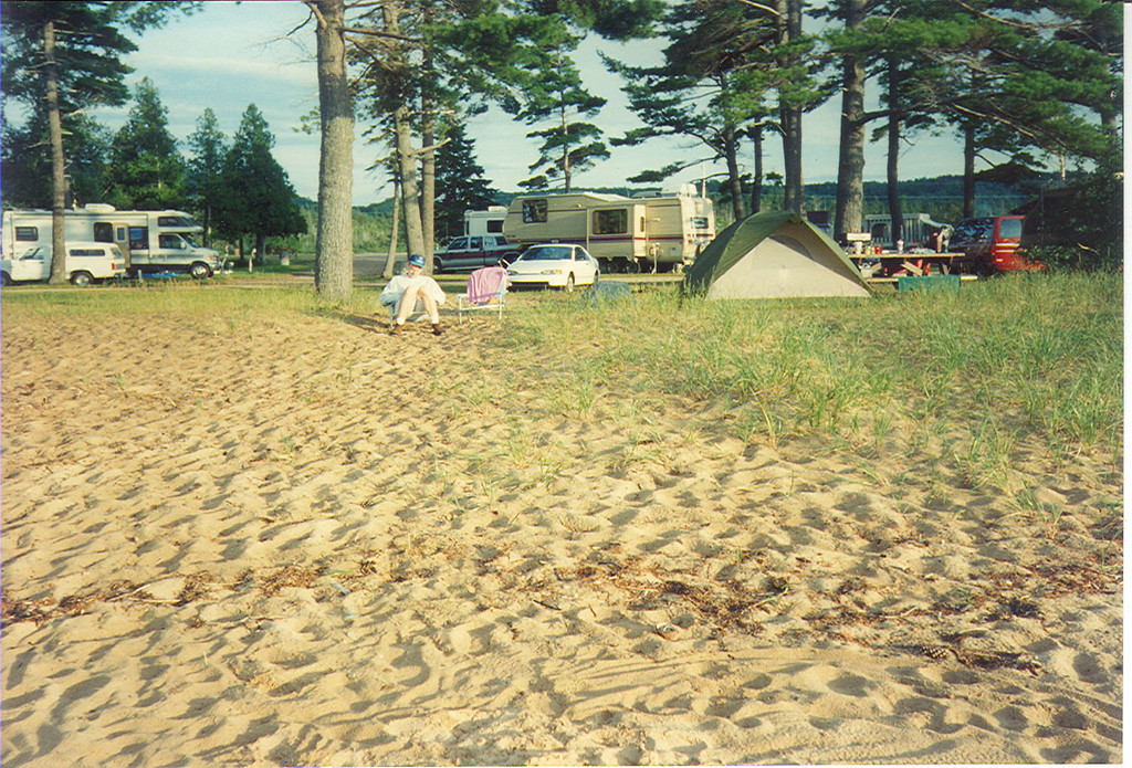Campsite on the shore of Lake Superior.