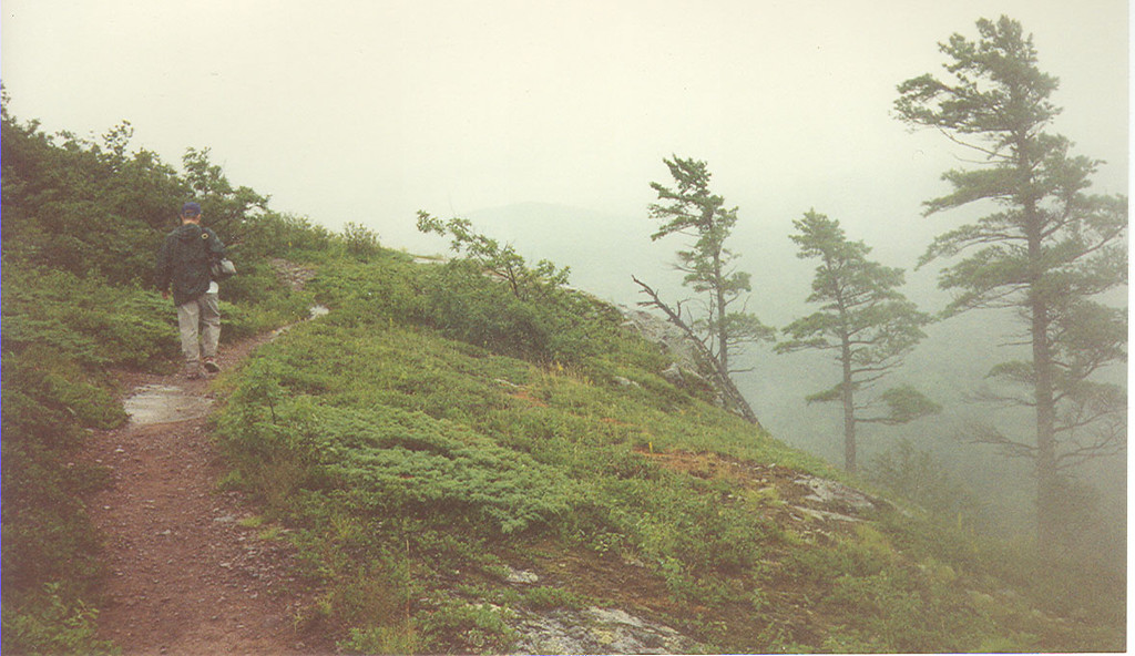 Hiking in the Porcupine Mountains of the northern upper pennisula of Michigan.