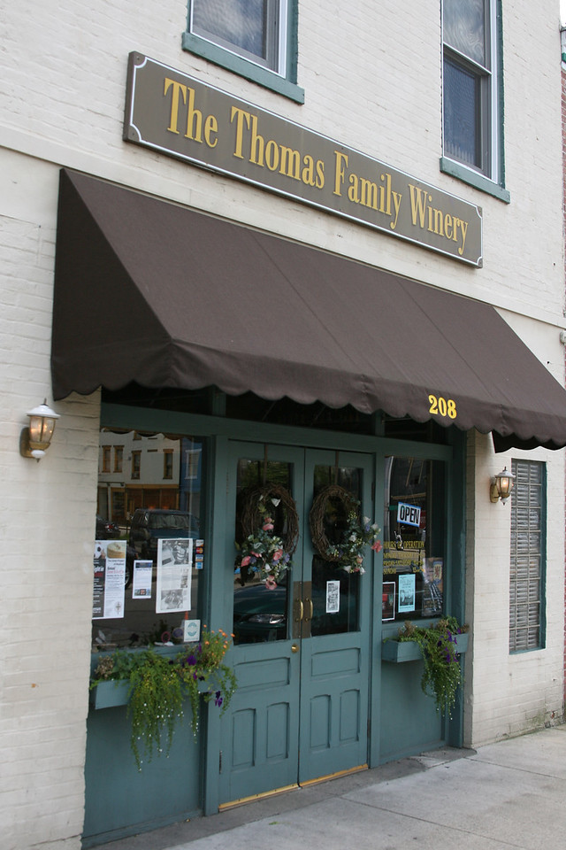 The Thomas Family Winery, Madison, Indiana, July 2007.