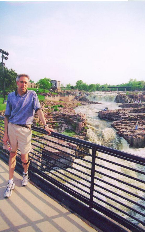 Scott at Big Sioux River in Falls Park, Sioux Falls, SD.