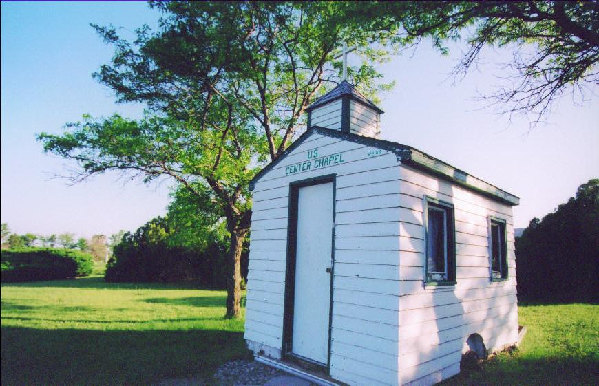 This little Chapel (on wheels) was about the only other item of significance at the geographical center of the U.S.