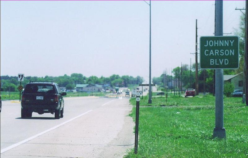 Johnny Carson's hometown of Norfolk, Nebraska.  The house he grew up on is on this main drag through town.