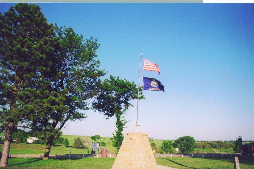This monument marks the geographical center of the U.S.