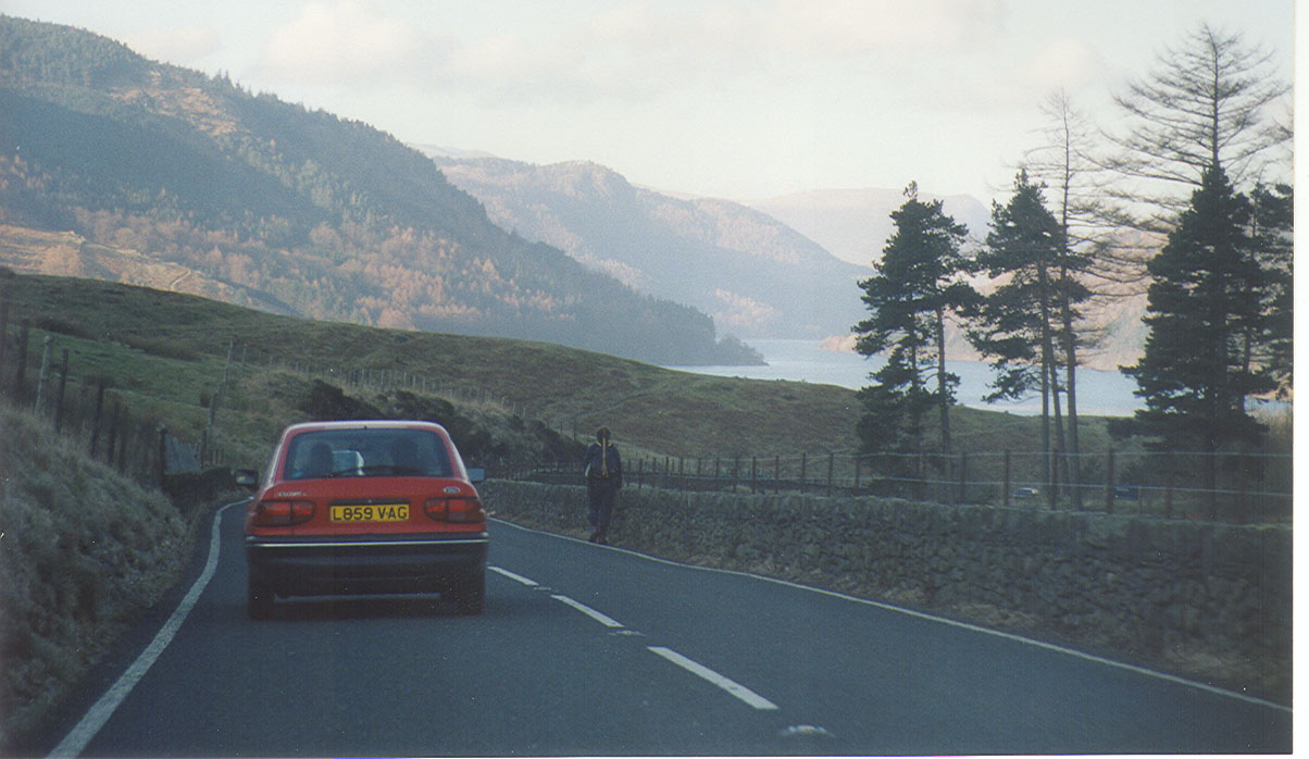 Entering the Lake District of England