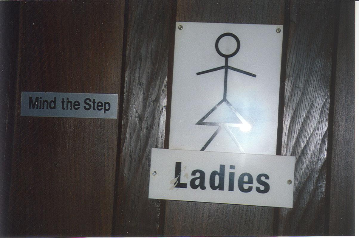 Mind the step ladies!