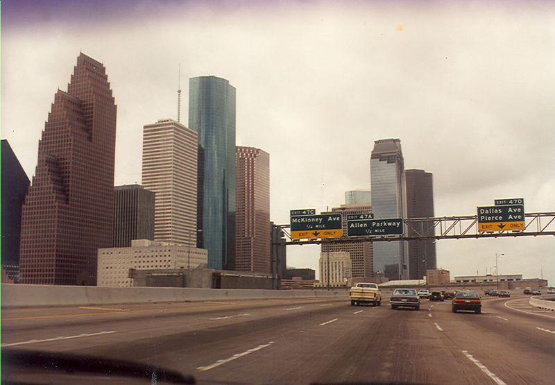 My drive to work through downtown Houston.