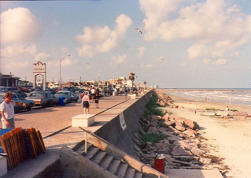 Galveston seawall.