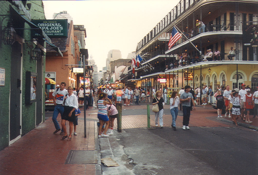 Borbon Street in New Orleans.