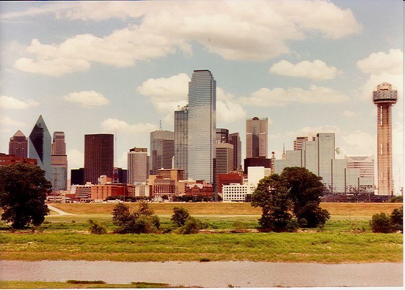 Dallas, TX skyline.