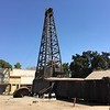 This wood derrick oil well drilling rig was a walk-through and is mostly complete.  Very crude wood and iron machinery! (cloth drive belts!)  The oil museum on the grounds of the museum was very good (and air conditioned).