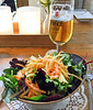 Salad at a restaurant.