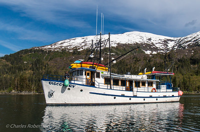 The M/V Discovery, a 65 ft. custom yacht and our home for three days. Capacity is 12 guests and four crew.