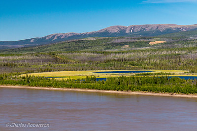 Crossing the Yukon River.