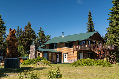 The main lodge building at Silver Salmon Creek.