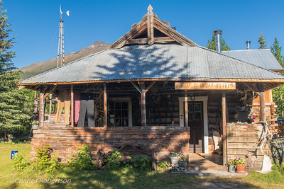Main building of our lodge, the former roadhouse and dance hall of Wiseman. Now owned by Berni and Uta Hicker.