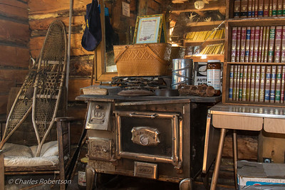 Inside the Wiseman trading post.