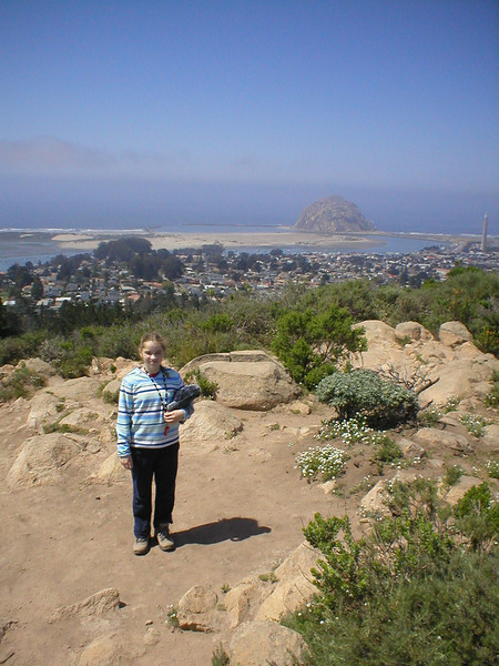 Munchkin on the summit, Morro Rock in the background