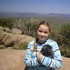 Munchkin and a plush otter friend, on Black Hill