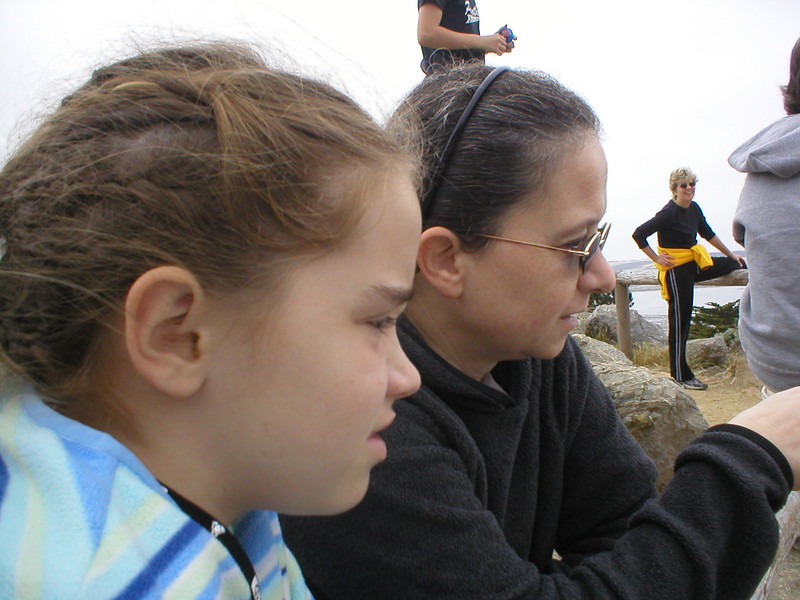 Munchkin and Tepo, on the summit near the Morro Bay Natural History Museum