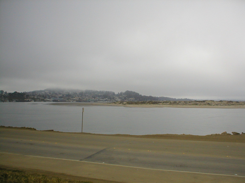 Morro Bay -- Black Hill is obscured by fog