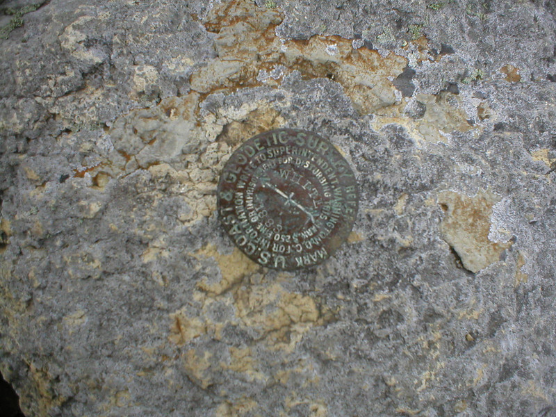 USGS marker, on the summit near the Natural History Museum