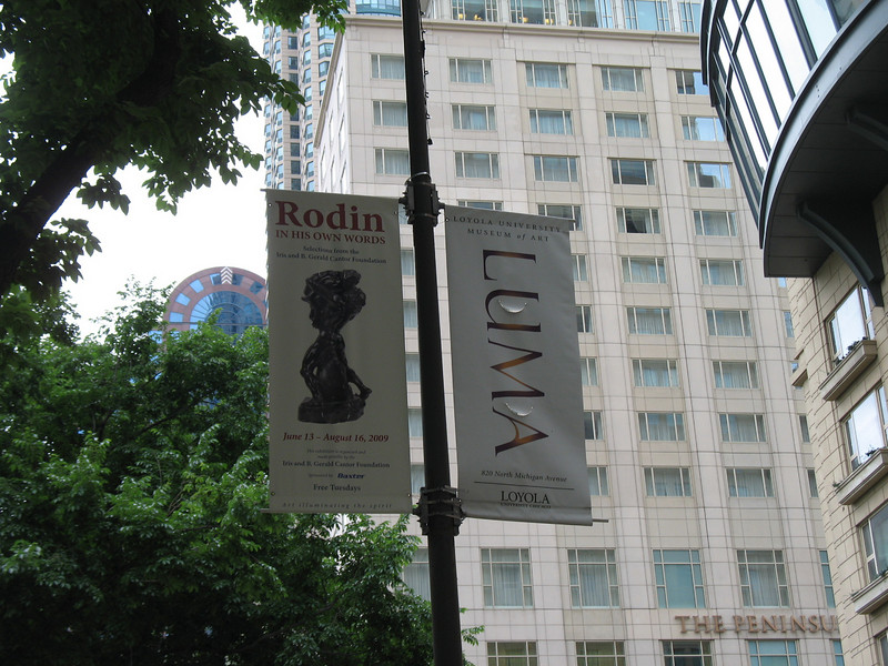 Rodin Exhibit at the Loyola Museum of Art.