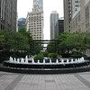 Fountain near the Tribune Building.