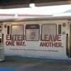 Loyola advertisement on L Train.