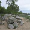 Limestone boulders.