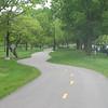 Undulating bike-ped trail.
