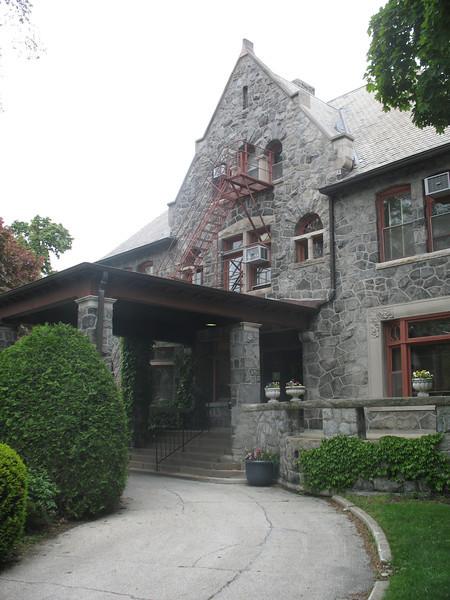 Cool stone building near Northwestern University campus.