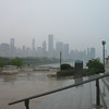 Chicago's tall skyline looks good, even in the rain.