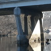 Zoomed in on the underside of the West Lawrence Avenue Bridge.