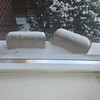 Many houses come with special weather-detecting bricks. If the brick is snow-covered, you know it is snowing.