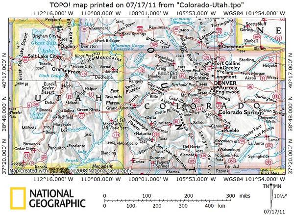 Colorado and Utah maps.