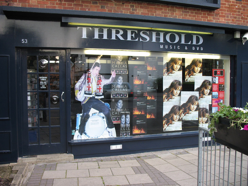 "Threshold Records in Cobham: <a href=""http://www.elmbridge-online.co.uk/cobham/cd/"" target=""blank"">http://www.elmbridge-online.co.uk/cobham/cd/</a>  It is Saturday, June 10 and we are here to meet Pete and Amy."
