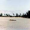 Outrigger canoe on Kaiaka Bay.
