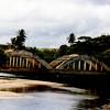 Rainbow Bridge crossing the Anahulu River at Haleiwa.