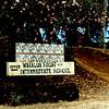 Waialua High and Intermediate School sign.