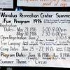 Waialua Recreation Center Summer Fun Program, 1986. I participated in this program in 1966.